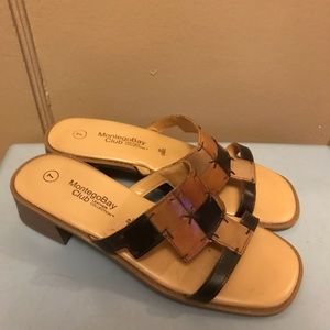 Lightly used all leather sandals